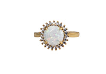 Load image into Gallery viewer, Lg White opal cz ring