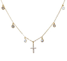 Load image into Gallery viewer, Cz dangle Cz cross NK20121