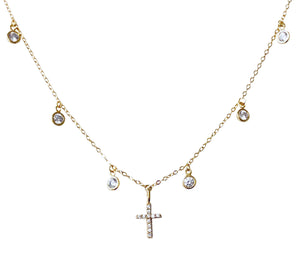 Cz dangle Cz cross NK20121