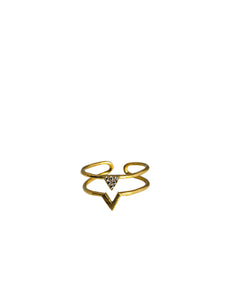 Dbl v triangle ring