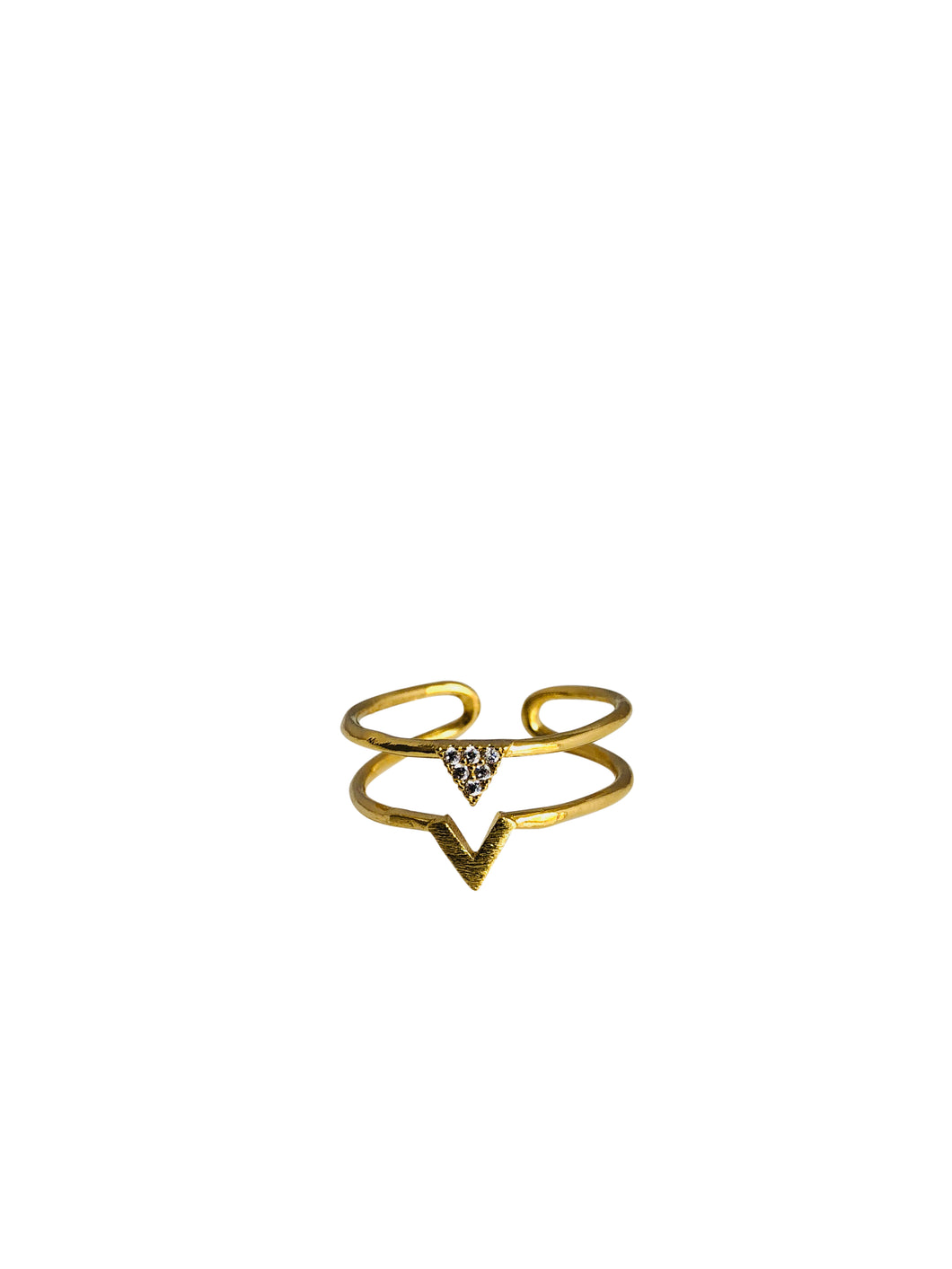 Dbl v triangle ring RN20047