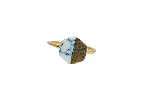 Stone Hex ring