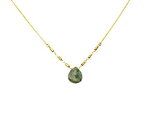 Load image into Gallery viewer, Labradorite drop tube chain nk