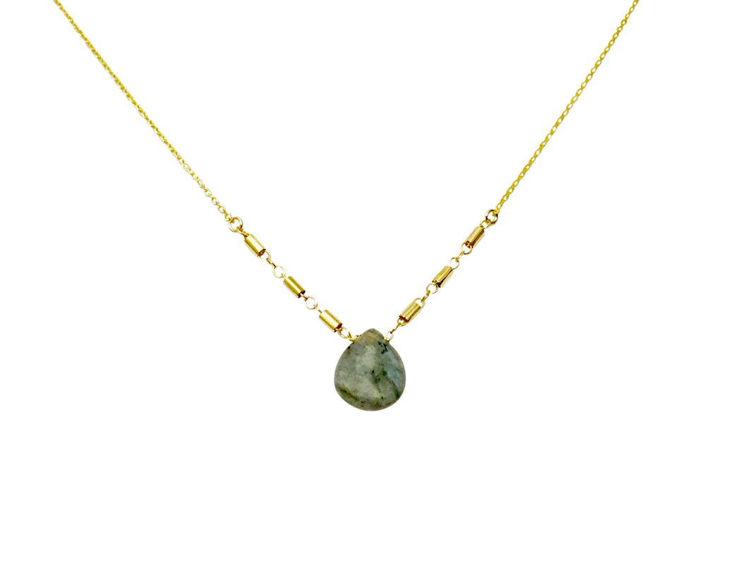 Labradorite drop tube chain nk