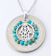 Load image into Gallery viewer, Silver TQ wrap Hamsa NK20416