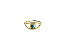 Load image into Gallery viewer, MO Tq evil eye ring