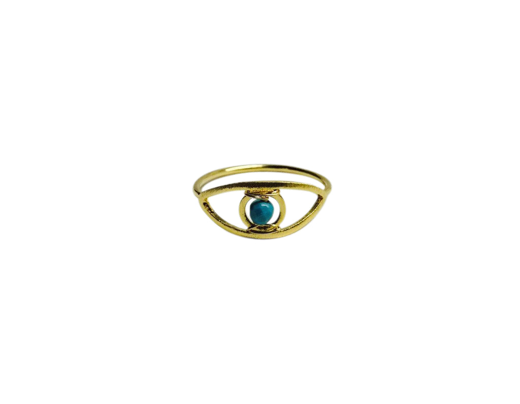MO Tq evil eye ring