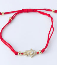 Load image into Gallery viewer, Red Hamsa bracelet