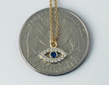 Load image into Gallery viewer, Baby sapphire evil eye NK20010