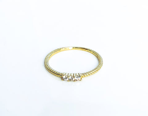 3cz twist ring