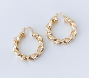 Twisted Goldfilled Hoop EA20269
