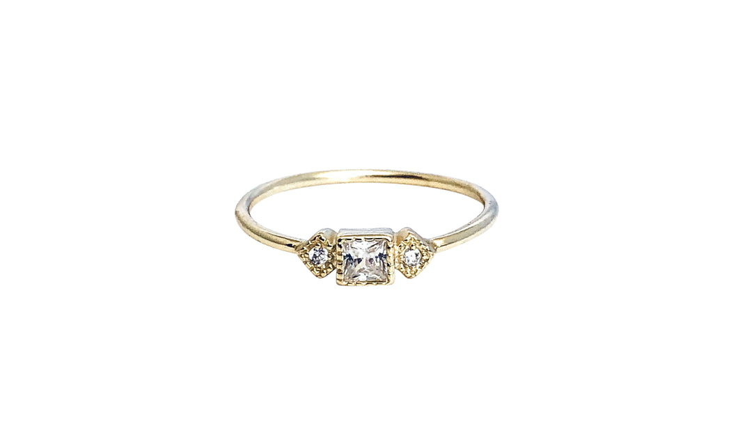 Square Cz ring