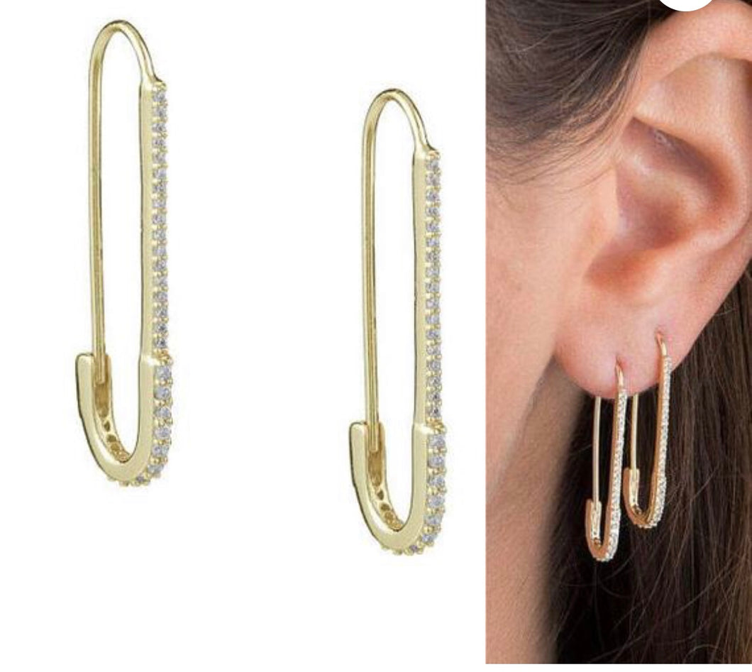 Safety Pin Earring EA20152