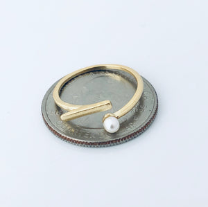 Bar pearl ring