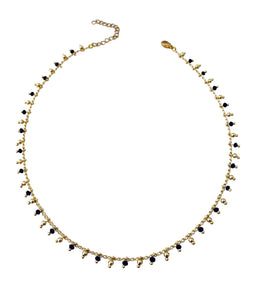 Blk/Gold Beaded choker