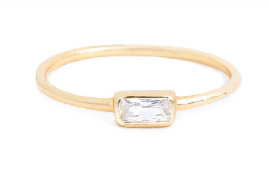 Rectangle baguette ring