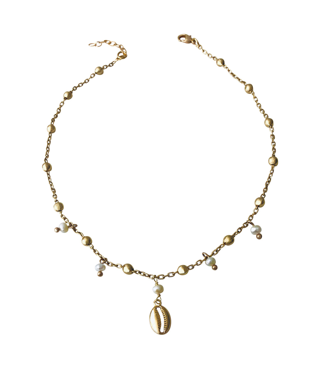 Pearl Cowrie Anklet