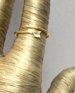 Cupids Arrow Gold Ring