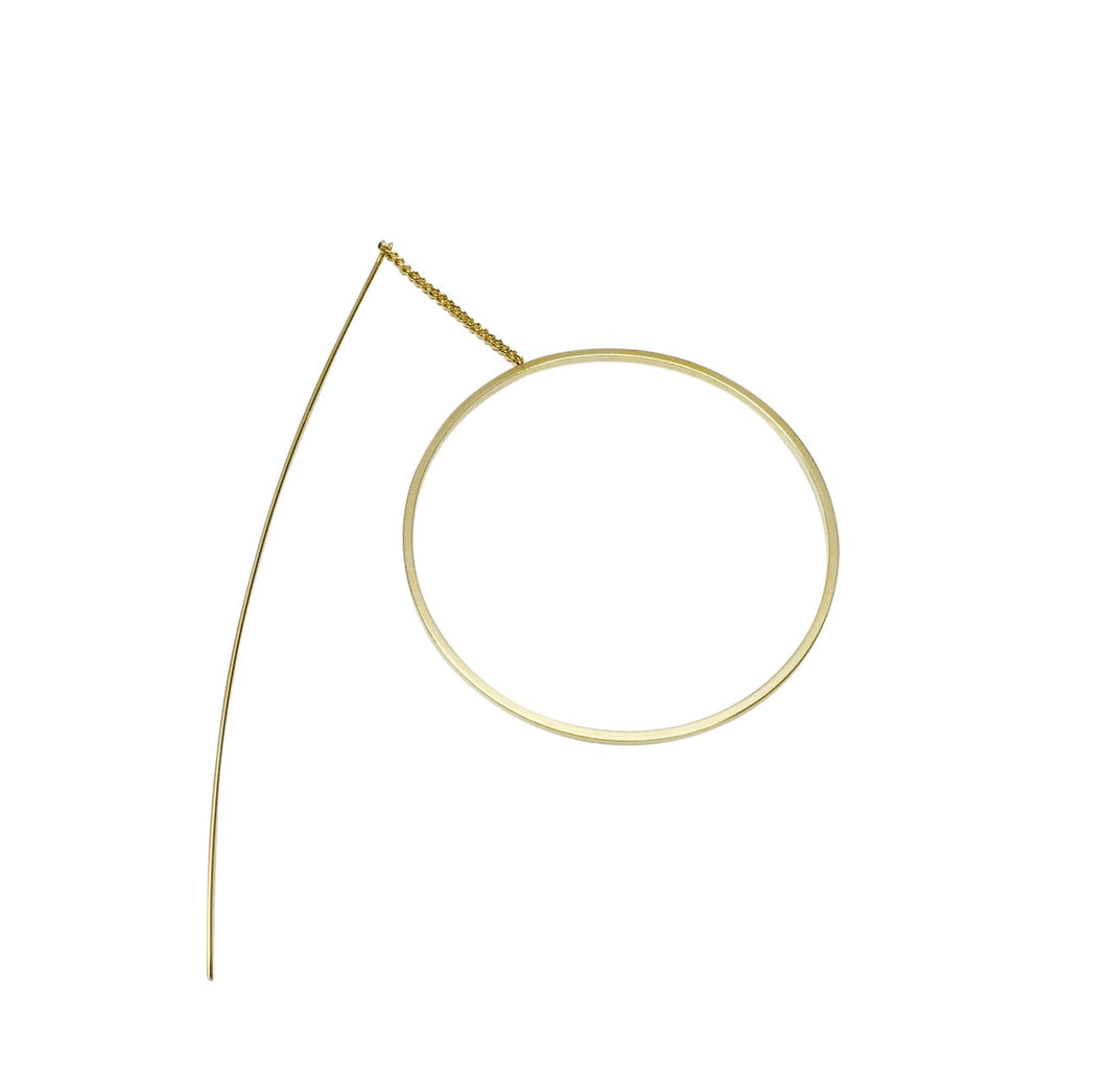 Circle thread earring