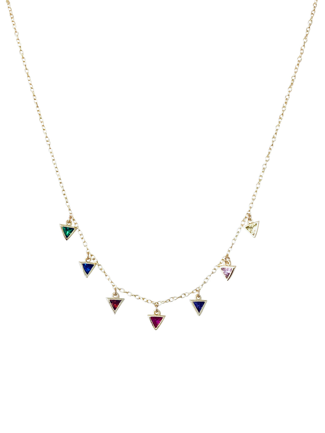 Rainbow triangles choker NK20302