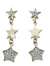Load image into Gallery viewer, Tri Star earring