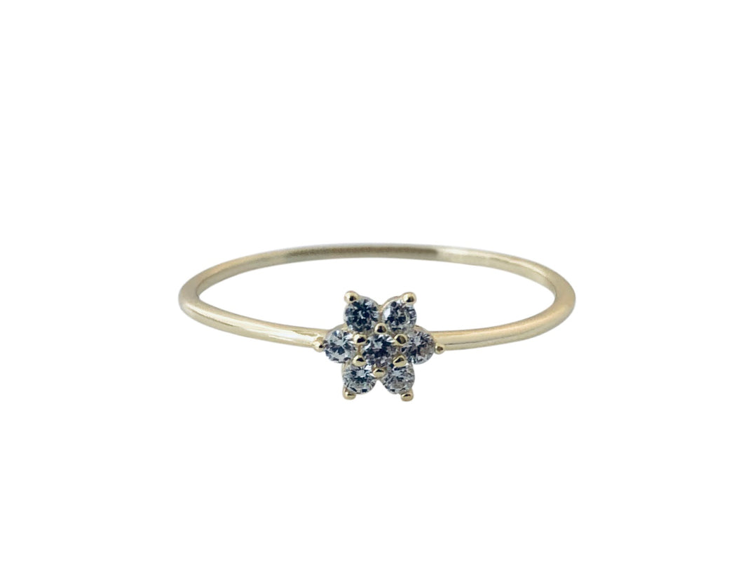 Cz Flower ring RN20005