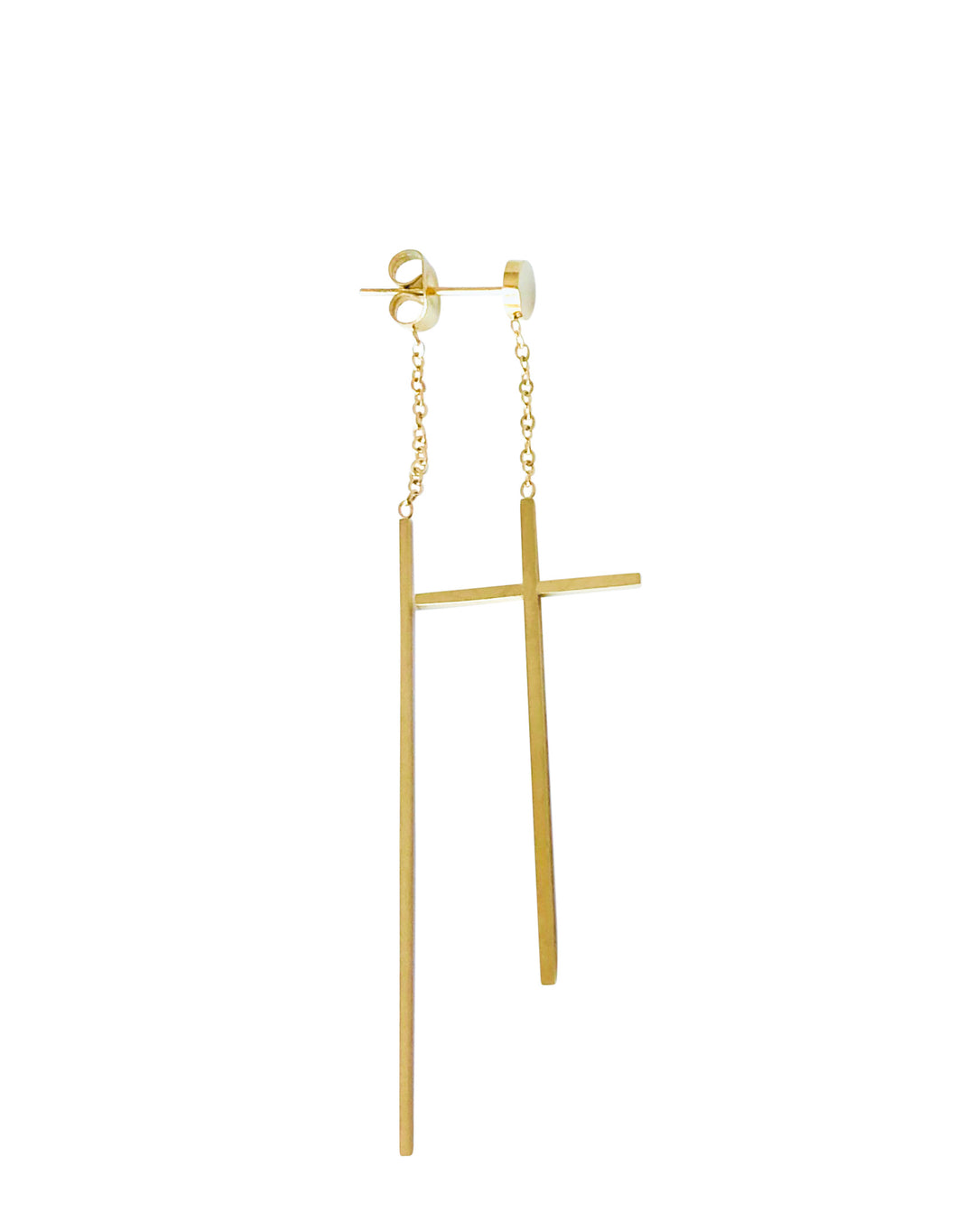 Steel cross earring EA20165