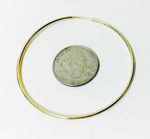 Large Goldfilled hoop