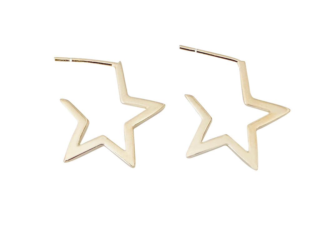 White Star earring