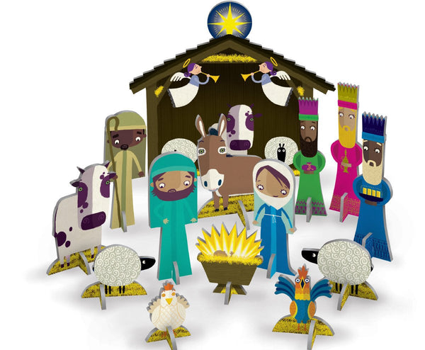 Away In A Manger Pop & Slot Christmas Decoration
