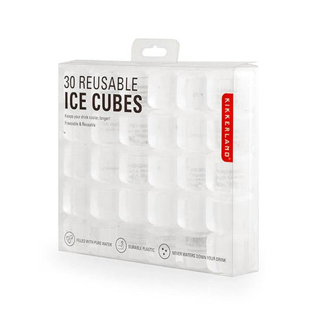 30 Clear Reusable Ice Cubes