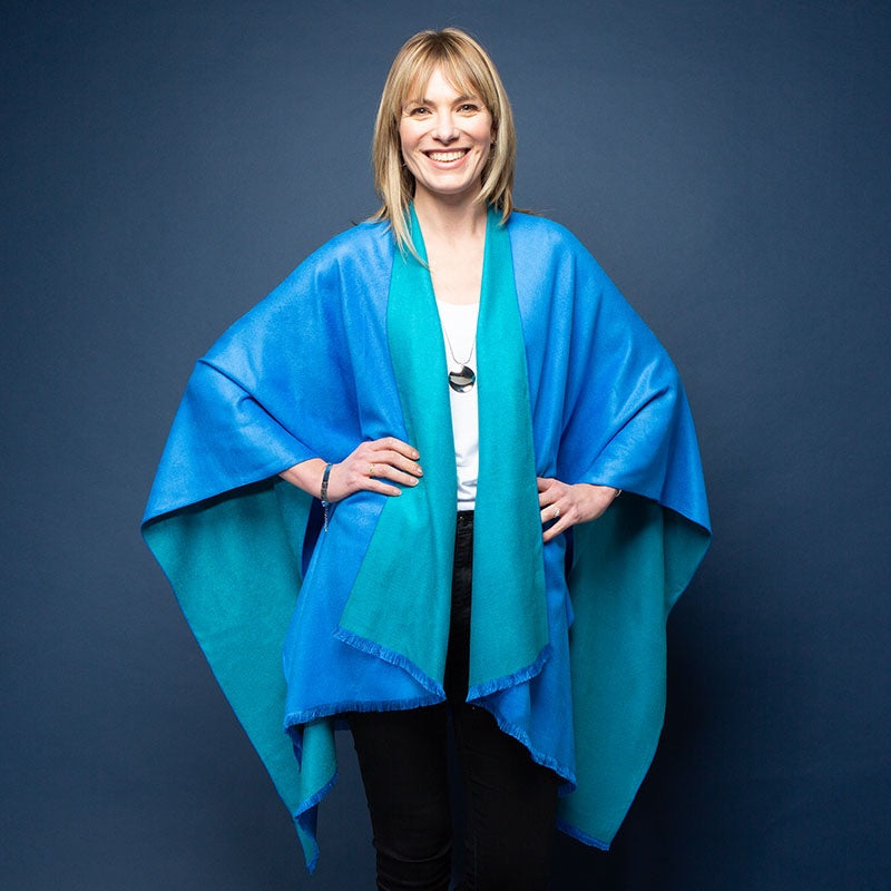 Blue Kingfisher Reversible Tess Wrap