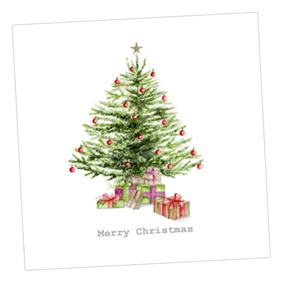 Boxed Christmas Tree Silver Earring Card