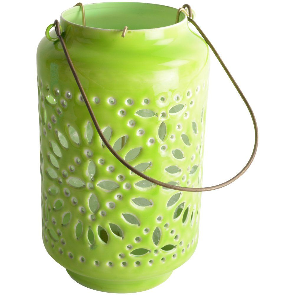 Moroccan Cut-Out Lantern Citron