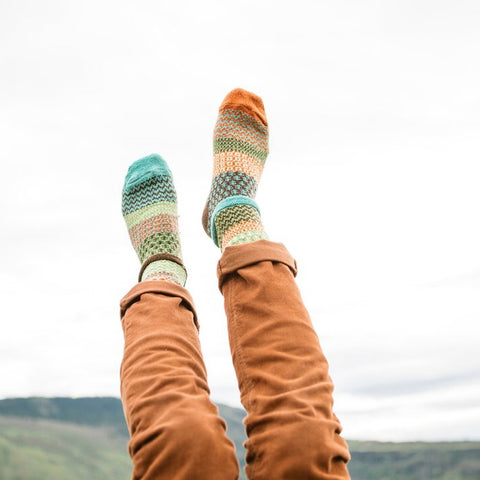 September Sun Mismatched Knitted Socks