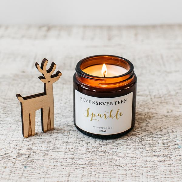 Winter Spice Scented Candle Sparkle 120ml