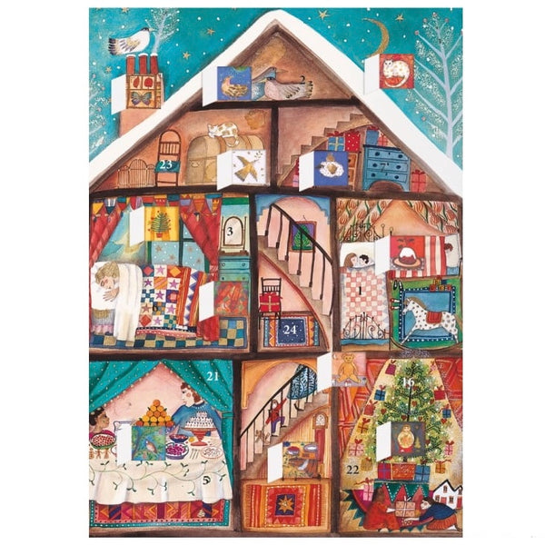 Little Christmas Advent Calendar Card
