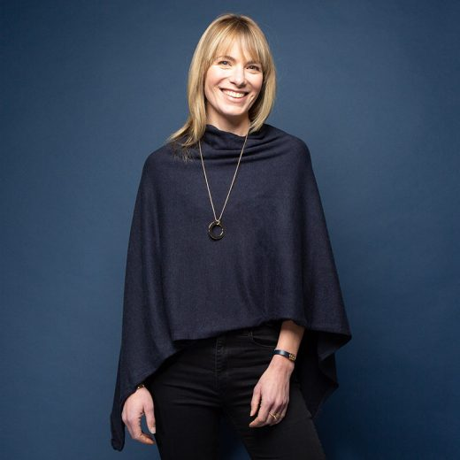 Blue Navy Tilley Poncho