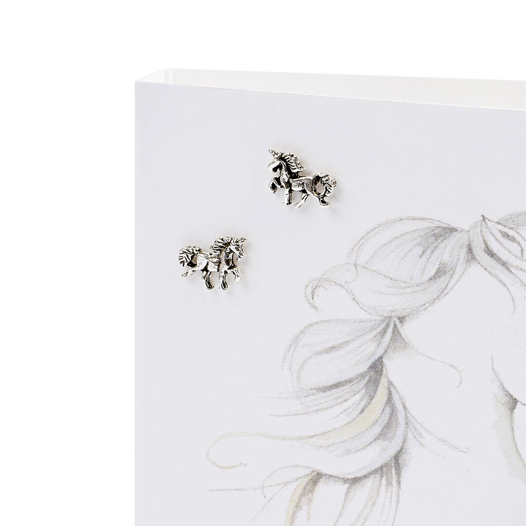 Boxed Unicorn Silver Earring Card