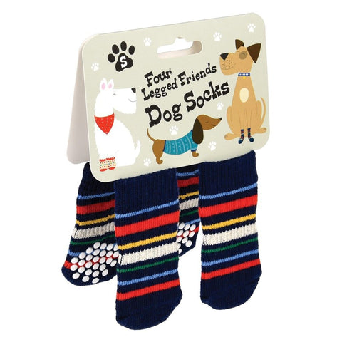 Small Stripy Dog Socks