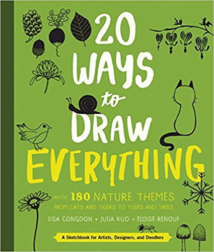 20 Ways To Draw Everything With 180 Nature Themes From Cats & Tigers To Tulips & Trees