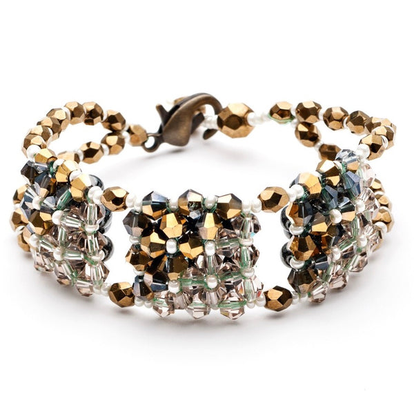 Desert Cubo Beaded Crystal Bracelet