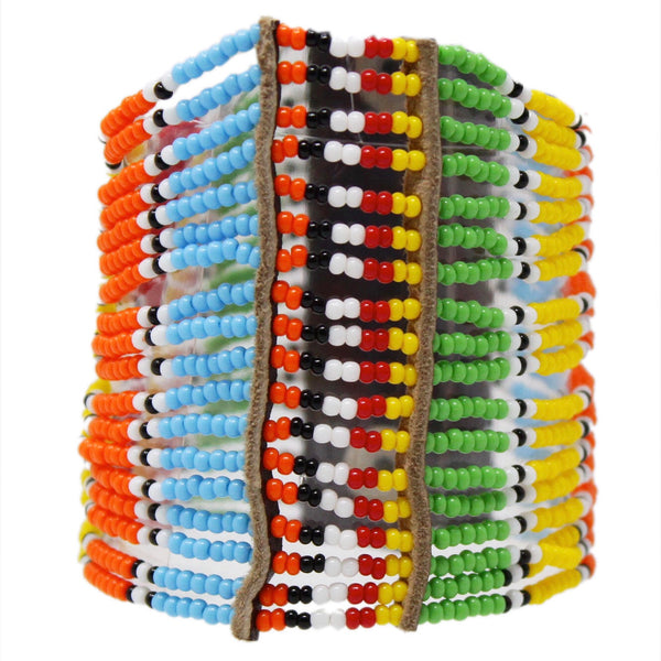 Multi Kitui Big Beaded Maasai Bracelet