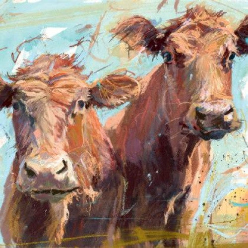 Two Brown Cows