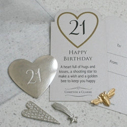 21st Birthday Pocket Charms