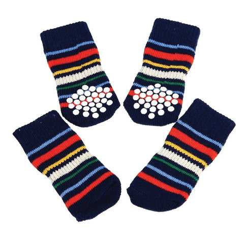 Medium Stripy Dog Socks