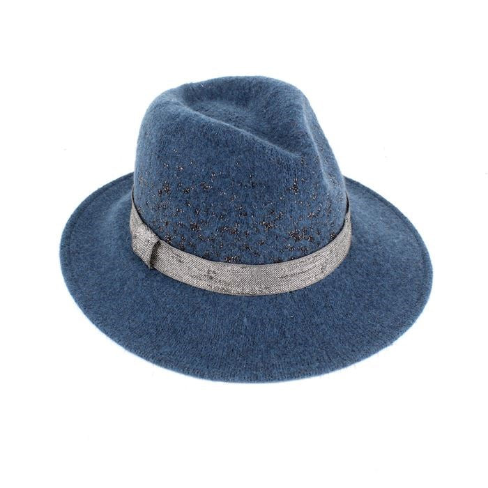 Teal Sparkle Fedora Hat