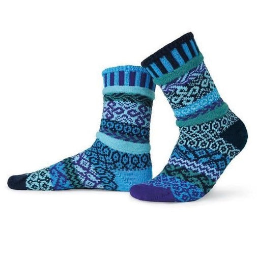 Water Mismatched Knitted Socks