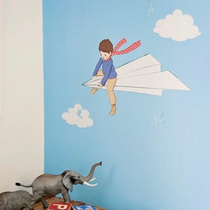 Belle & Boo My Paper Plane Wall Sticker