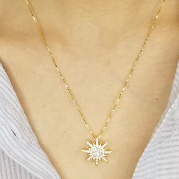 Gold Rock Star Necklace
